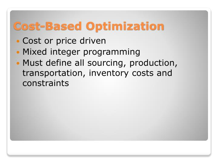 Cost or price driven