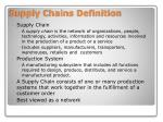 supply chains definition