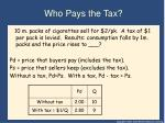 who pays the tax