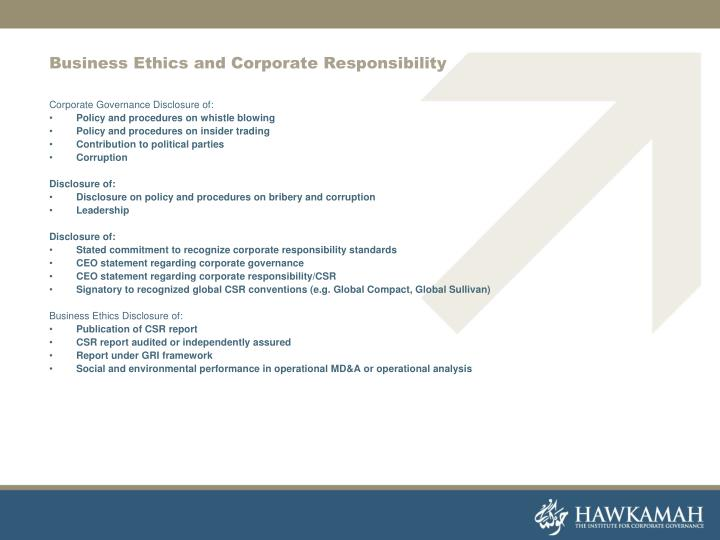 Business Ethics and Corporate Responsibility