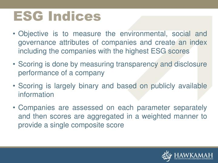 Objective is to measure the environmental, social and governance attributes of companies and create an index including the companies with the highest ESG scores