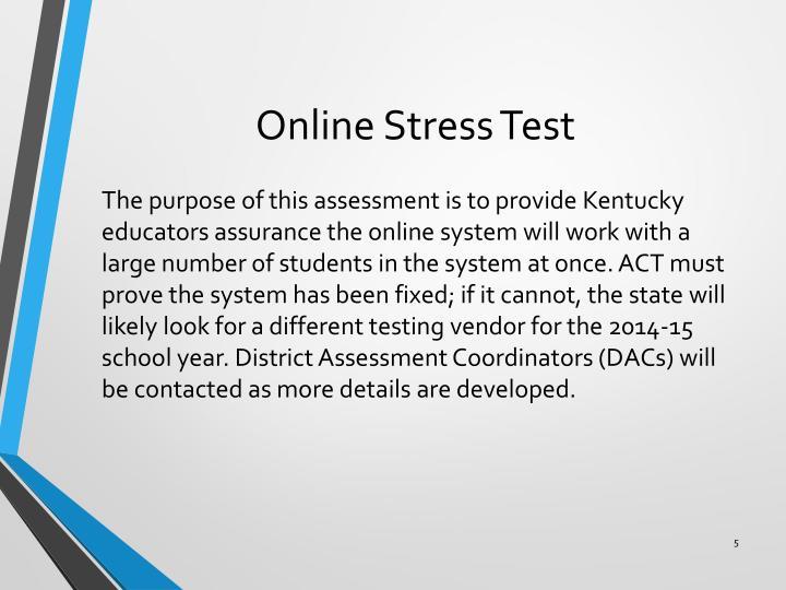 Online Stress Test