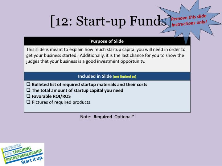 [12: Start-up Funds]