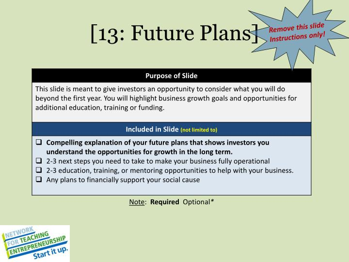 [13: Future Plans]