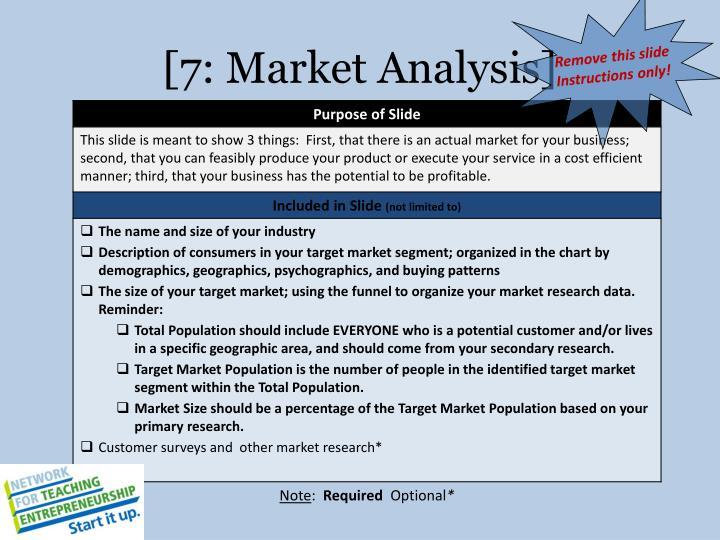 [7: Market Analysis]