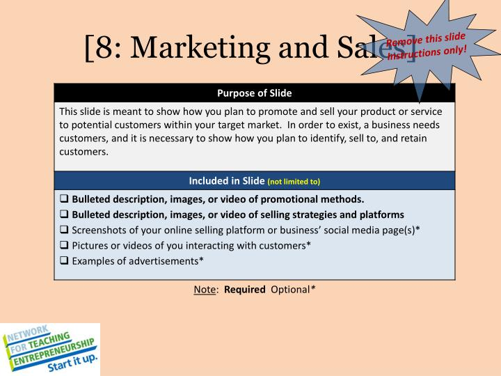 [8: Marketing and Sales]