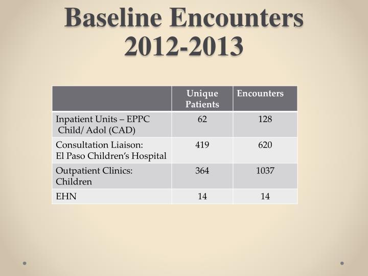 Baseline Encounters