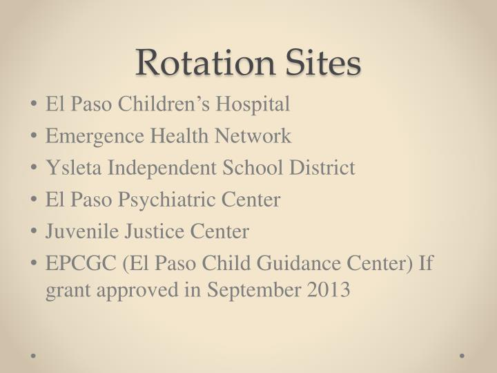 Rotation Sites