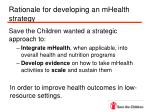 rationale for developing an mhealth strategy