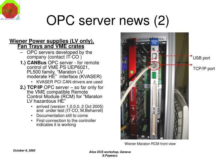 OPC server news (2)