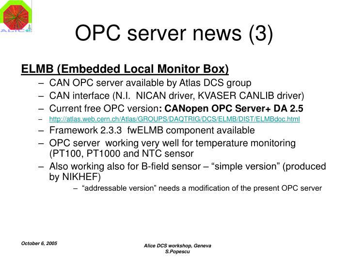 OPC server news (3)