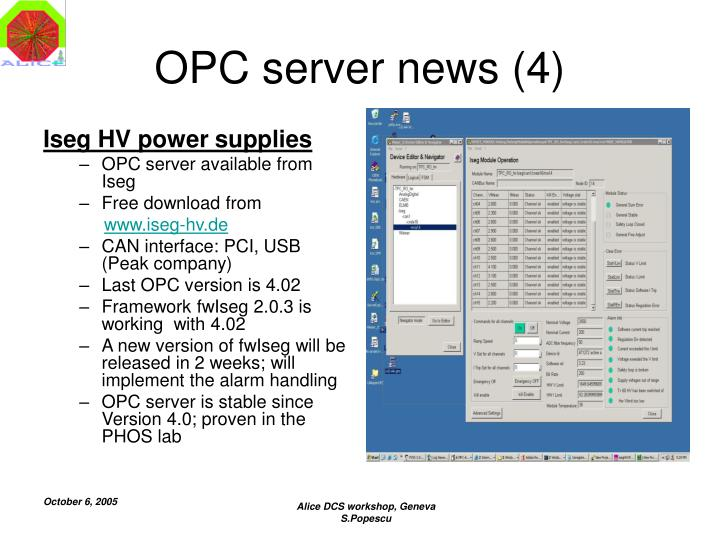 OPC server news (4)