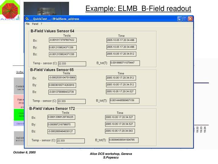 Example: ELMB  B-Field readout