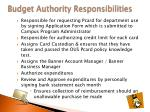 budget authority responsibilities1