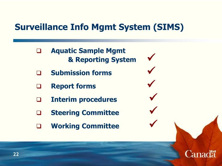 Surveillance Info Mgmt System (SIMS)