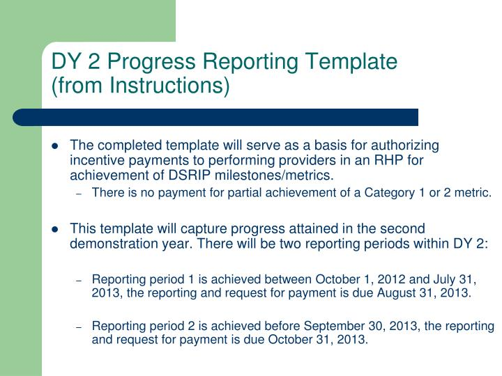 DY 2 Progress Reporting Template
