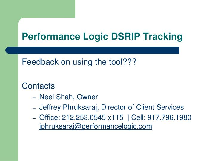Performance Logic DSRIP Tracking