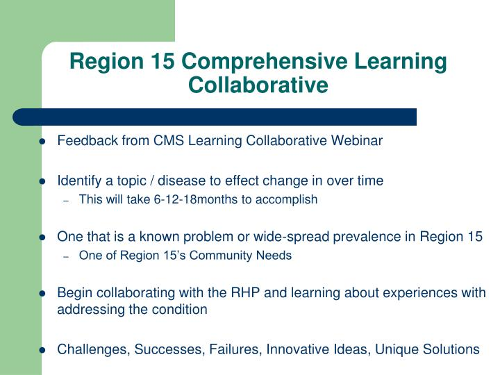 Region 15 Comprehensive Learning Collaborative