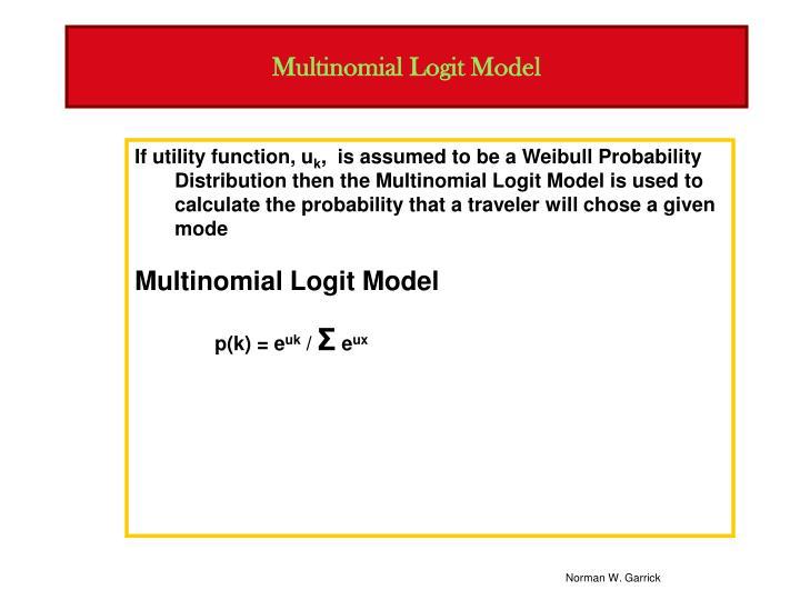 Multinomial Logit Model