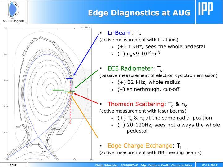 Edge Diagnostics at AUG