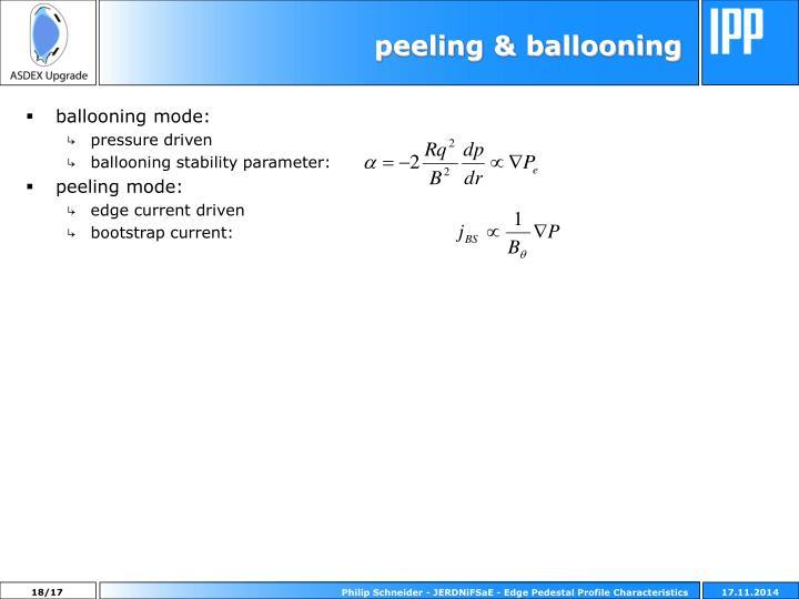 peeling & ballooning