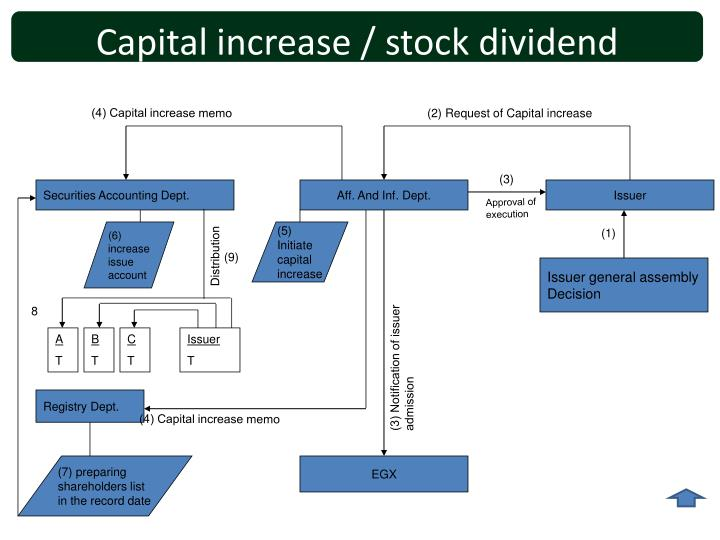 Capital increase / stock dividend