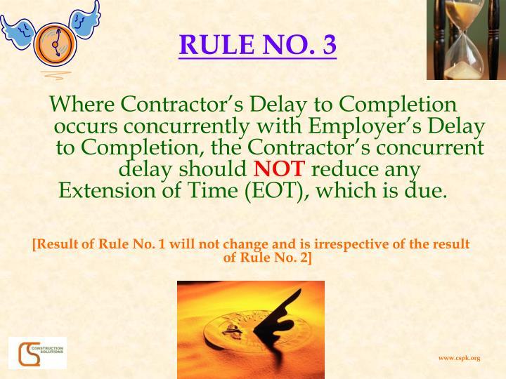 RULE NO. 3