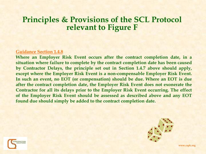 Principles & Provisions of the SCL Protocol