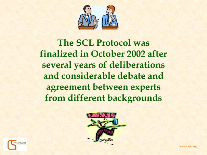 The SCL Protocol was
