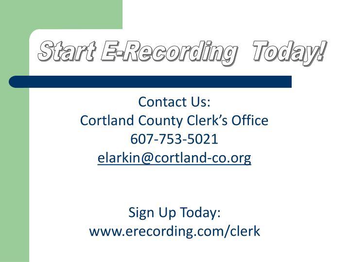 Start E-Recording  Today!