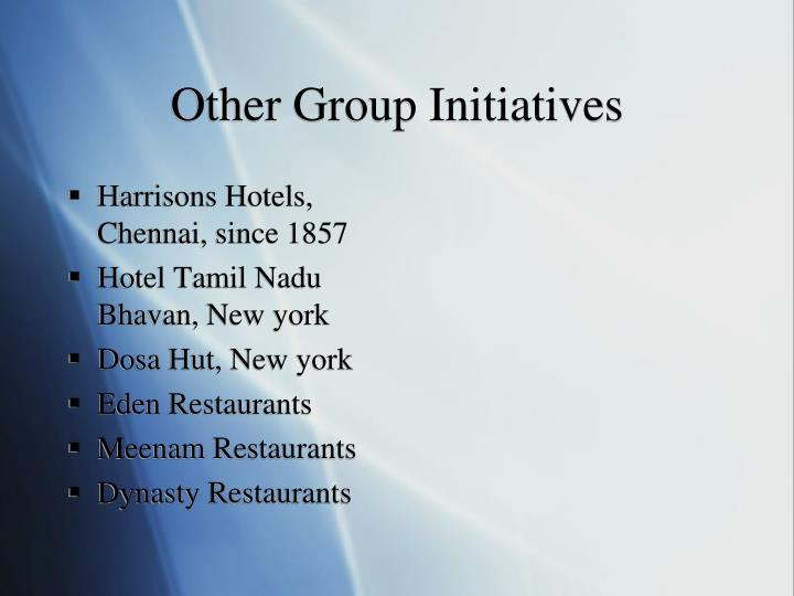 Other Group Initiatives