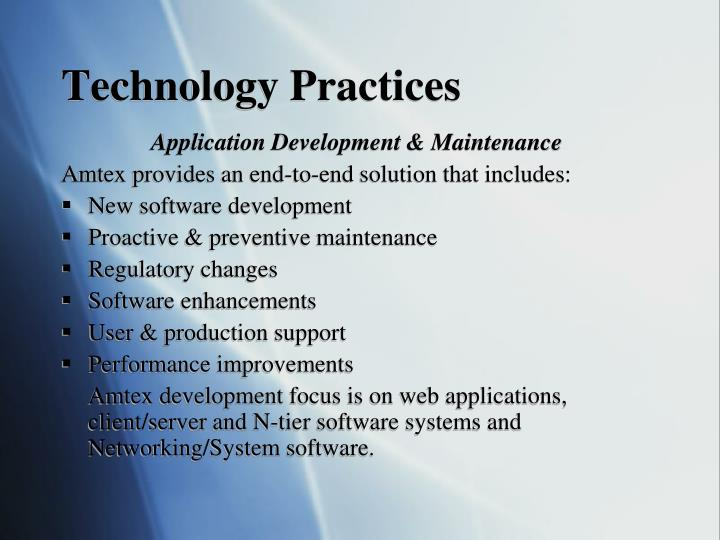 Technology Practices