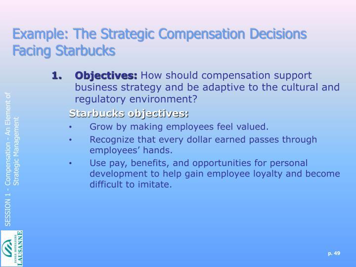 Example: The Strategic Compensation Decisions Facing Starbucks