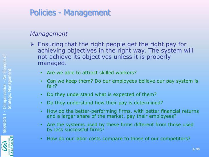 Policies - Management