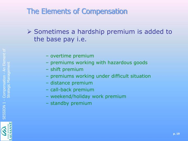 The Elements of Compensation