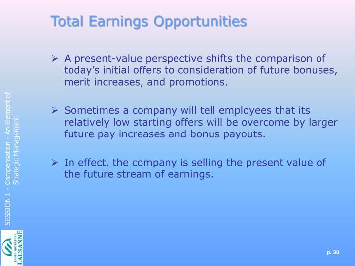 Total Earnings Opportunities