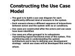 constructing the use case model