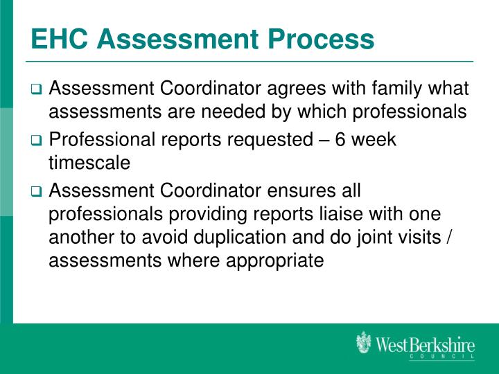 EHC Assessment Process
