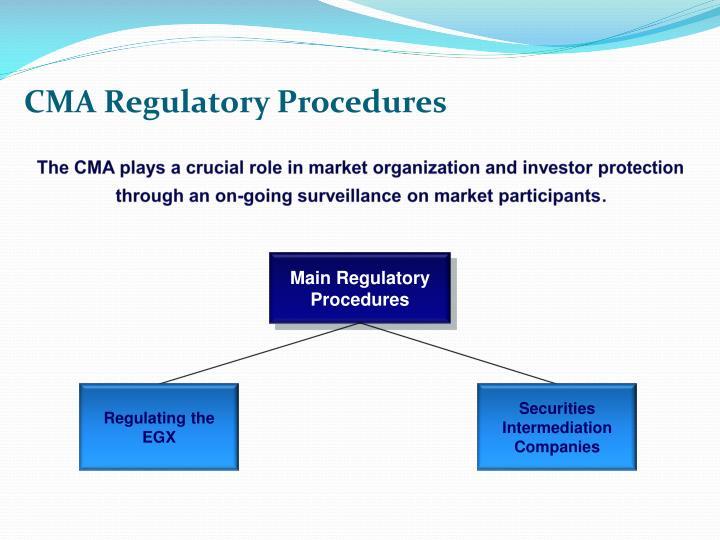 CMA Regulatory Procedures