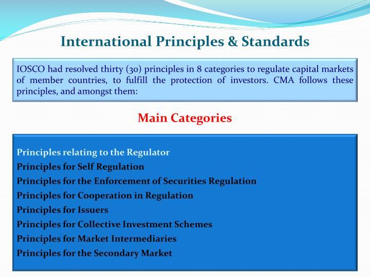International Principles & Standards