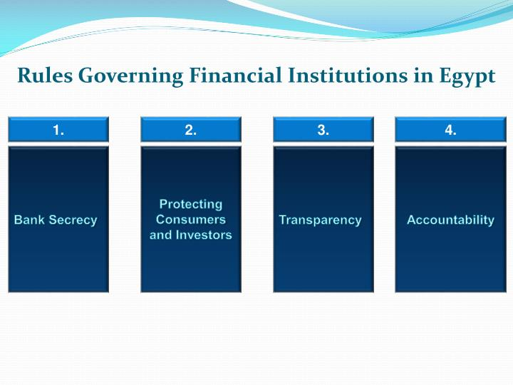 Rules Governing Financial Institutions in Egypt