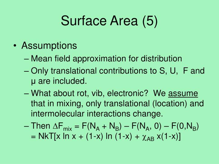 Surface Area (5)