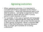 agreeing outcomes
