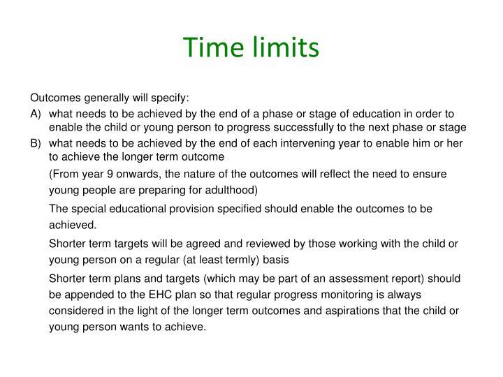 Time limits