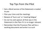 top tips from the pilot