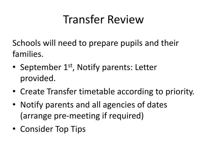 Transfer Review