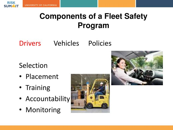 Components of a Fleet Safety Program