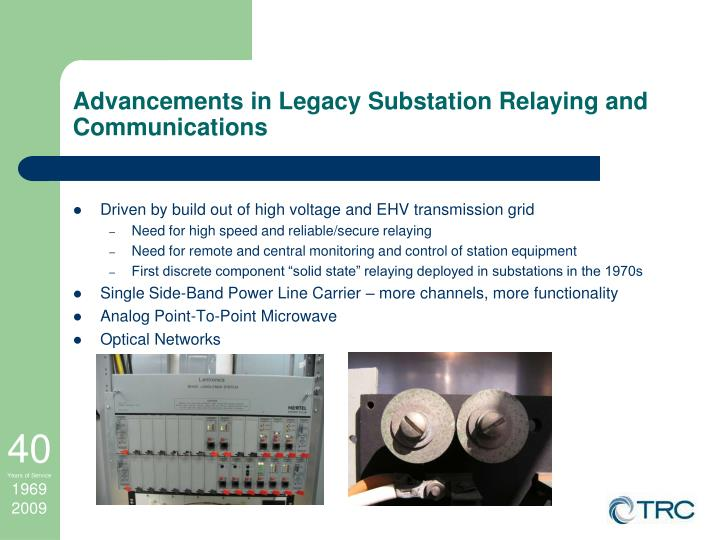 Advancements in Legacy Substation Relaying and Communications