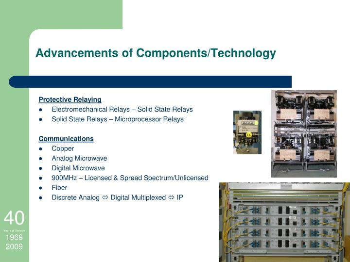 Advancements of Components/Technology