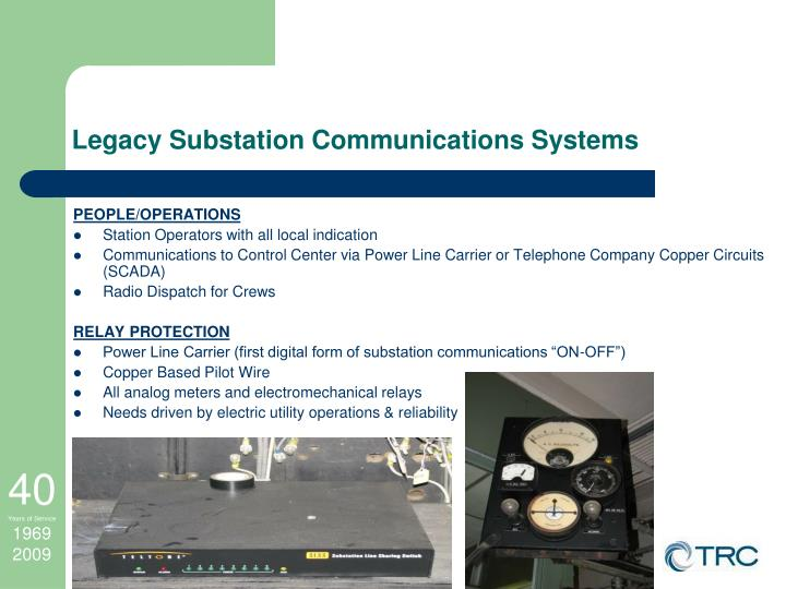 Legacy Substation Communications Systems